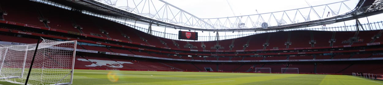 Emirates Stadium where Arsenal play football in the