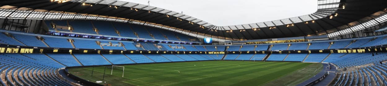 Etihad Stadium where Manchester City play football in the