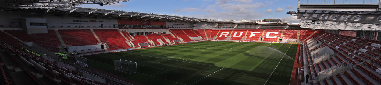 AESSEAL New York Stadium where Rotherham United play football in the