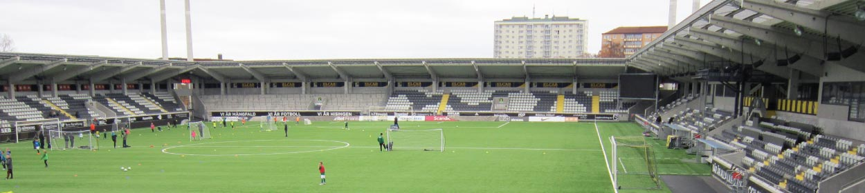 Bravida Arena stadium where BK Häcken play football in the