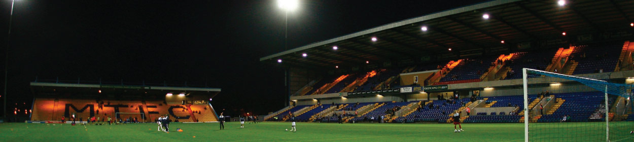 One Call Stadium where Mansfield Town play football in the