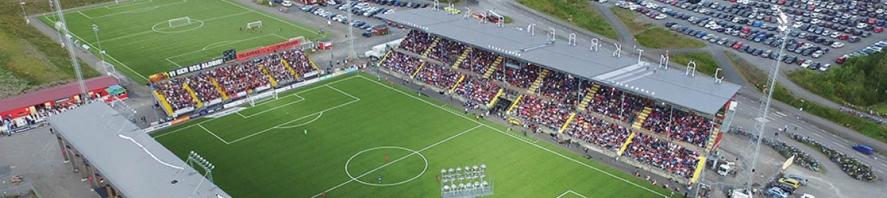 Jamtkraft Arena stadium where Ostersunds FK play football in the
