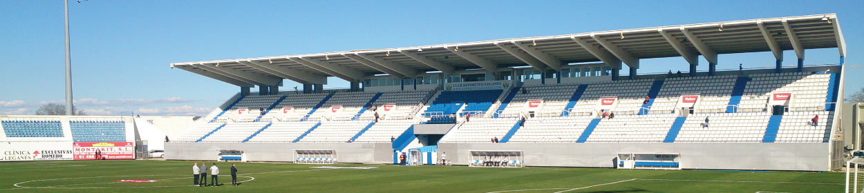 Butarque stadium where Leganes play football in the