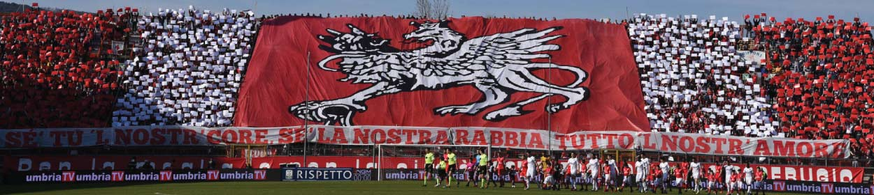 Renato Curi stadium where Perugia play football in the
