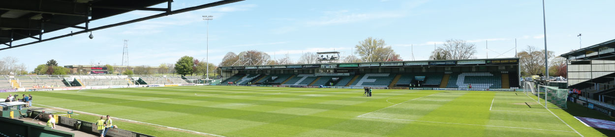 Huish Park stadium where Yeovil Town play football in the