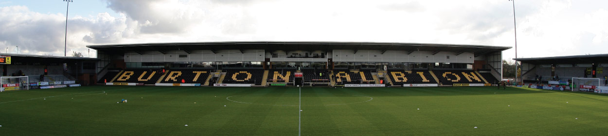 Pirelli Stadium where Burton Albion play football in the