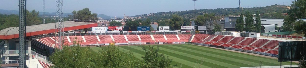 Municipal de Montilivi stadium where Girona play football in the La Liga