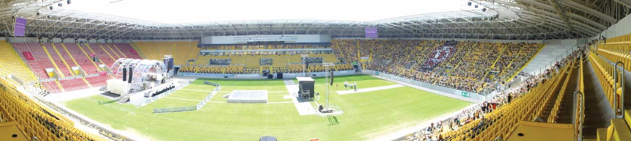 stadium where Dynamo Dresden play football in the