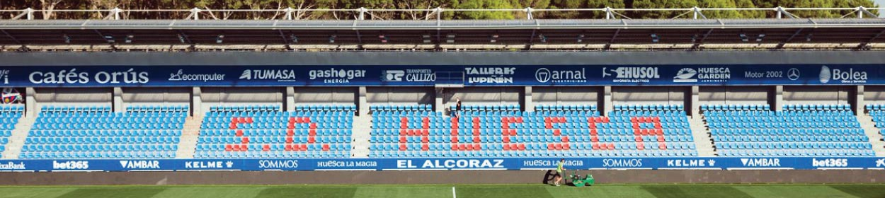 stadium where SD Huesca play football in the