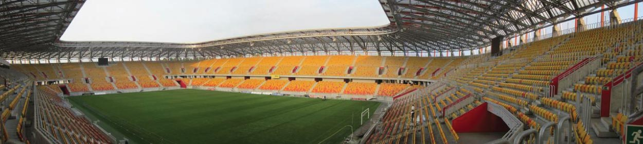 stadium where Jagiellonia Bialystok play football in the