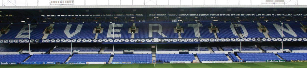 Goodison Park stadium where Everton play football in the