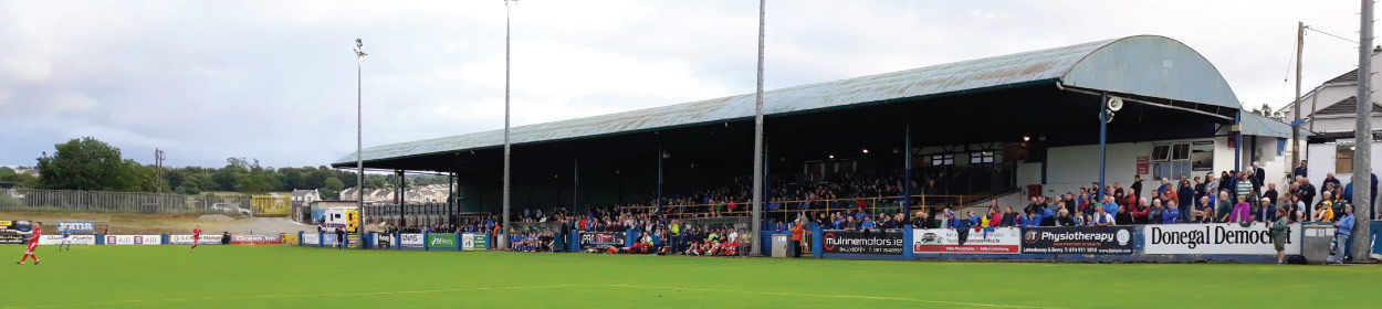 stadium where Finn Harps FC play football in the