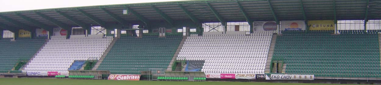 Dolicek Stadium where Bohemians Prague 1905 play football in the