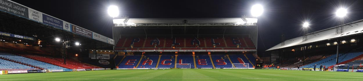Selhurst Park stadium where Crystal Palace play football in the