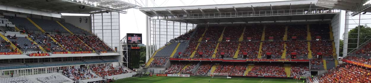 Stade Felix Bollaert-Delelis stadium where Lens play football in the