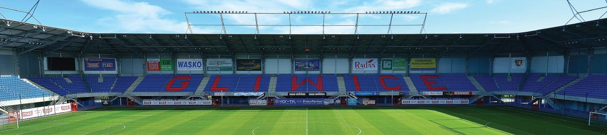 stadium where GKS Piast Gliwice play football in the