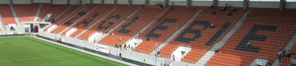 stadium where KGHM Zaglebie Lubin play football in the