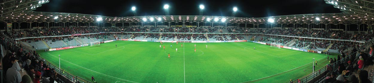 stadium where Korona Kielce SA play football in the