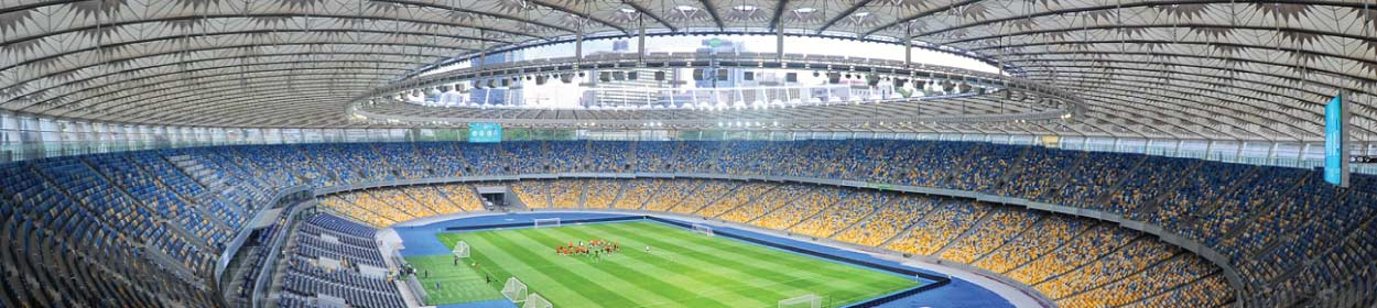 Kiev Olympic Stadium where Dynamo Kyiv play football in the