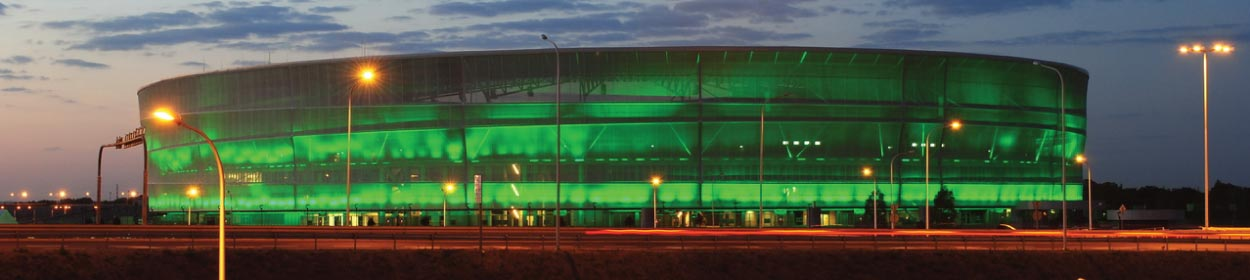 stadium where WKS Slask Wroclaw play football in the