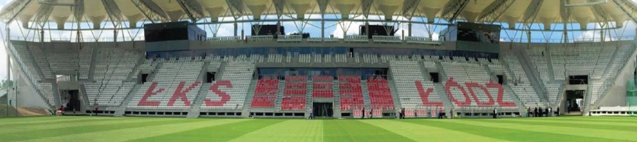stadium where LKS Lodz PSS play football in the