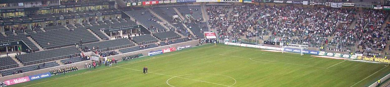 BORUSSIA-PARK stadium where Borussia Monchengladbach play football in the