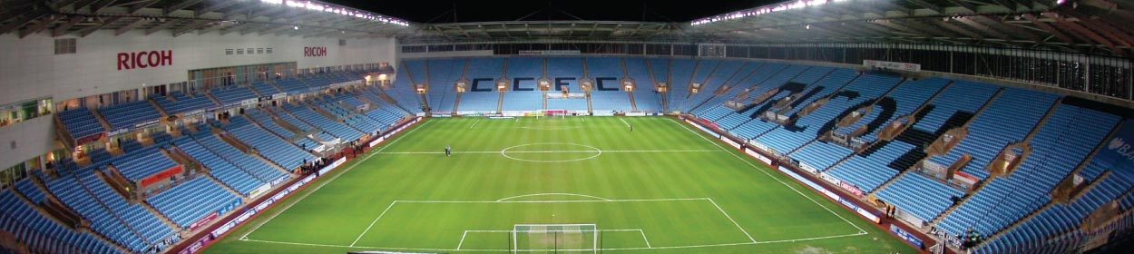 Ricoh Arena stadium where Coventry City play football in the