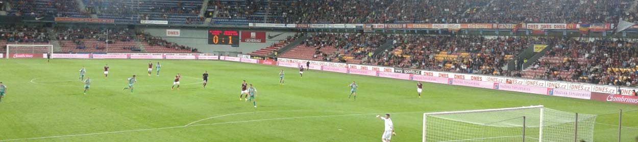 Generali Arena stadium where Sparta Prague play football in the