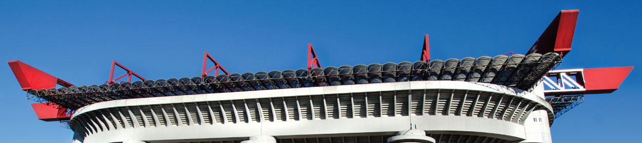 Giuseppe Meazza stadium where Milan play football in the