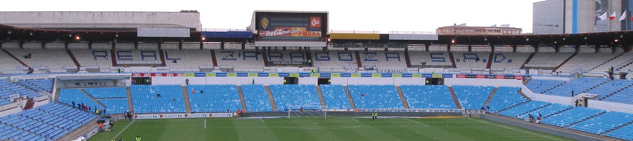 stadium where Real Zaragoza play football in the
