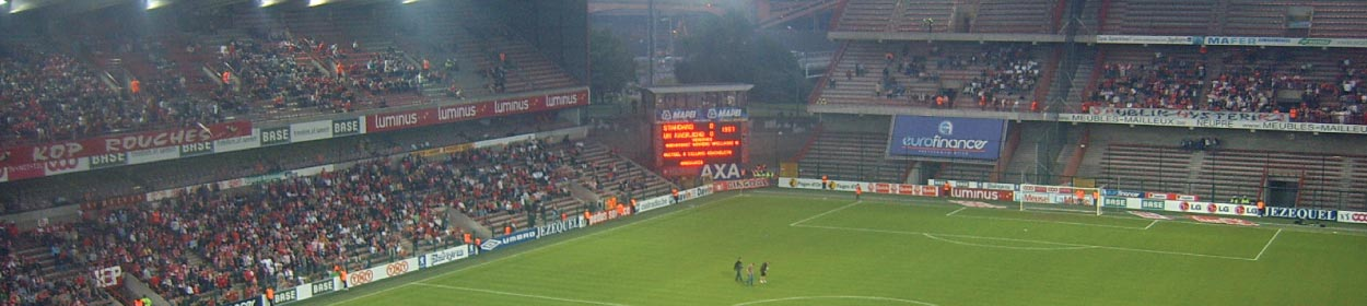 Stade de Sclessin stadium where Standard Liege play football in the