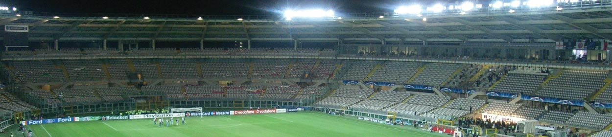 Olimpico Grande Torino stadium where Torino play football in the Serie A