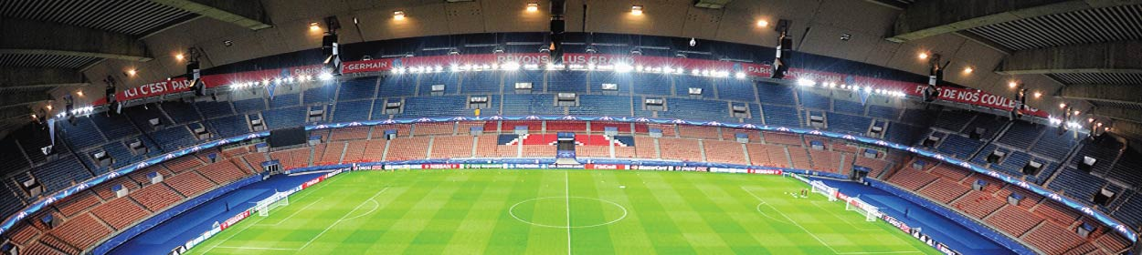 Parc des Princes stadium where Paris Saint-Germain play football in the