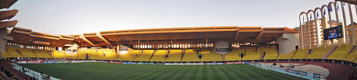 Stade Louis II stadium where Monaco play football in the