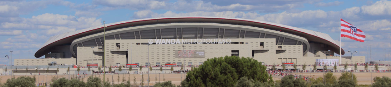 Wanda Metropolitano stadium where Atletico de Madrid play football in the