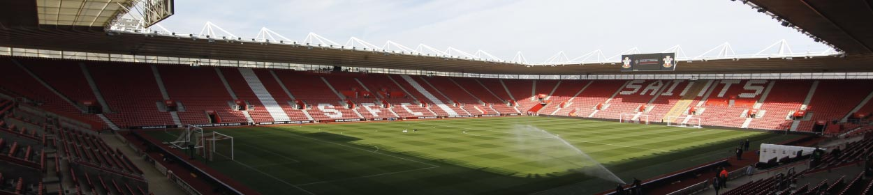 St. Mary's Stadium where Southampton play football in the Premier League