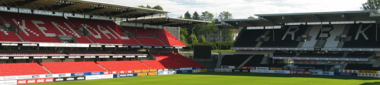 Lerkendal Stadium where Rosenborg play football in the