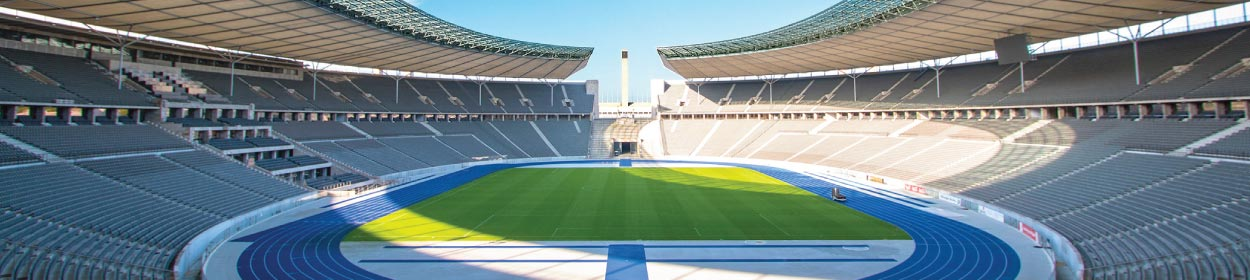 Olympiastadion stadium where Hertha BSC play football in the