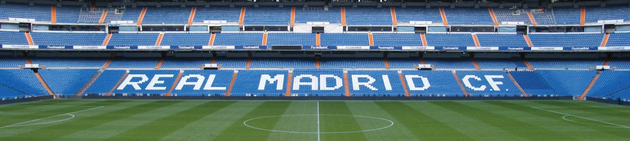 Santiago Bernabéu stadium where Real Madrid play football in the