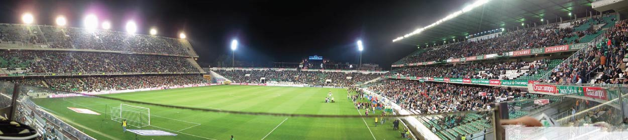 Benito Villamarín stadium where Real Betis play football in the