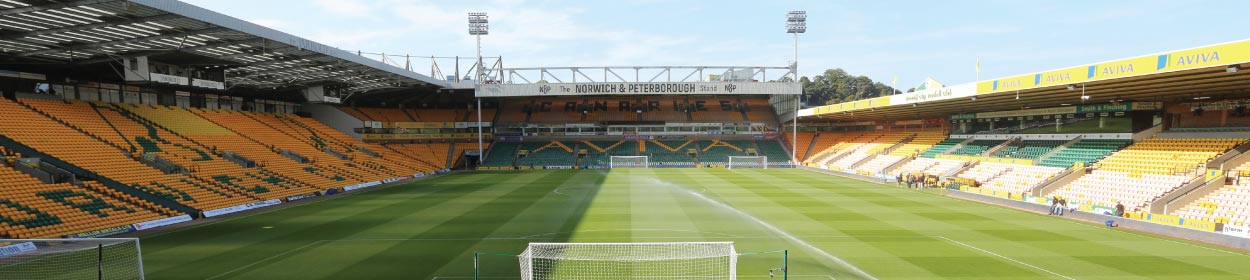 Carrow Road stadium where Norwich City play football in the Championship