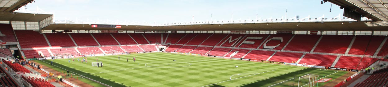 Riverside Stadium where Middlesbrough play football in the Championship