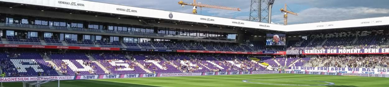 Ernst-Happel-Stadion stadium where FK Austria Wien play football in the