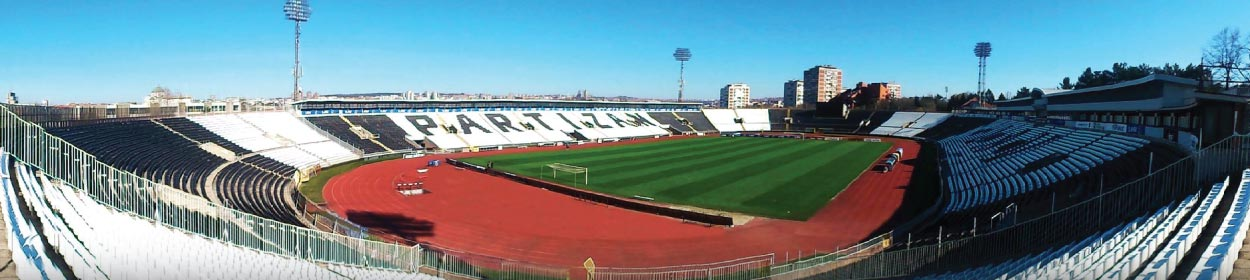 FK Partizan Stadium where Partizan Belgrade play football in the European Europa League