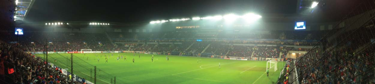 Eden Arena stadium where Slavia Prague play football in the