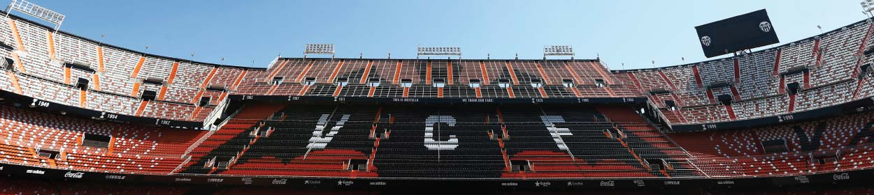 Mestalla stadium where Valencia CF play football in the