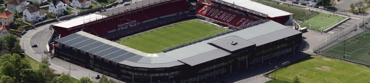 stadium where SK Brann play football in the