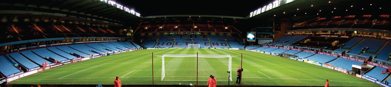 Villa Park stadium where Aston Villa play football in the