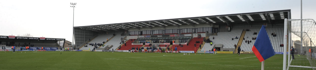 Globe Arena stadium where Morecambe play football in the