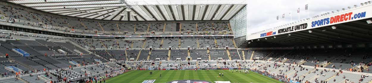 St. James' Park stadium where Newcastle United play football in the